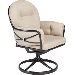 Cambria Club Swivel Rocker Dining Arm Chair
