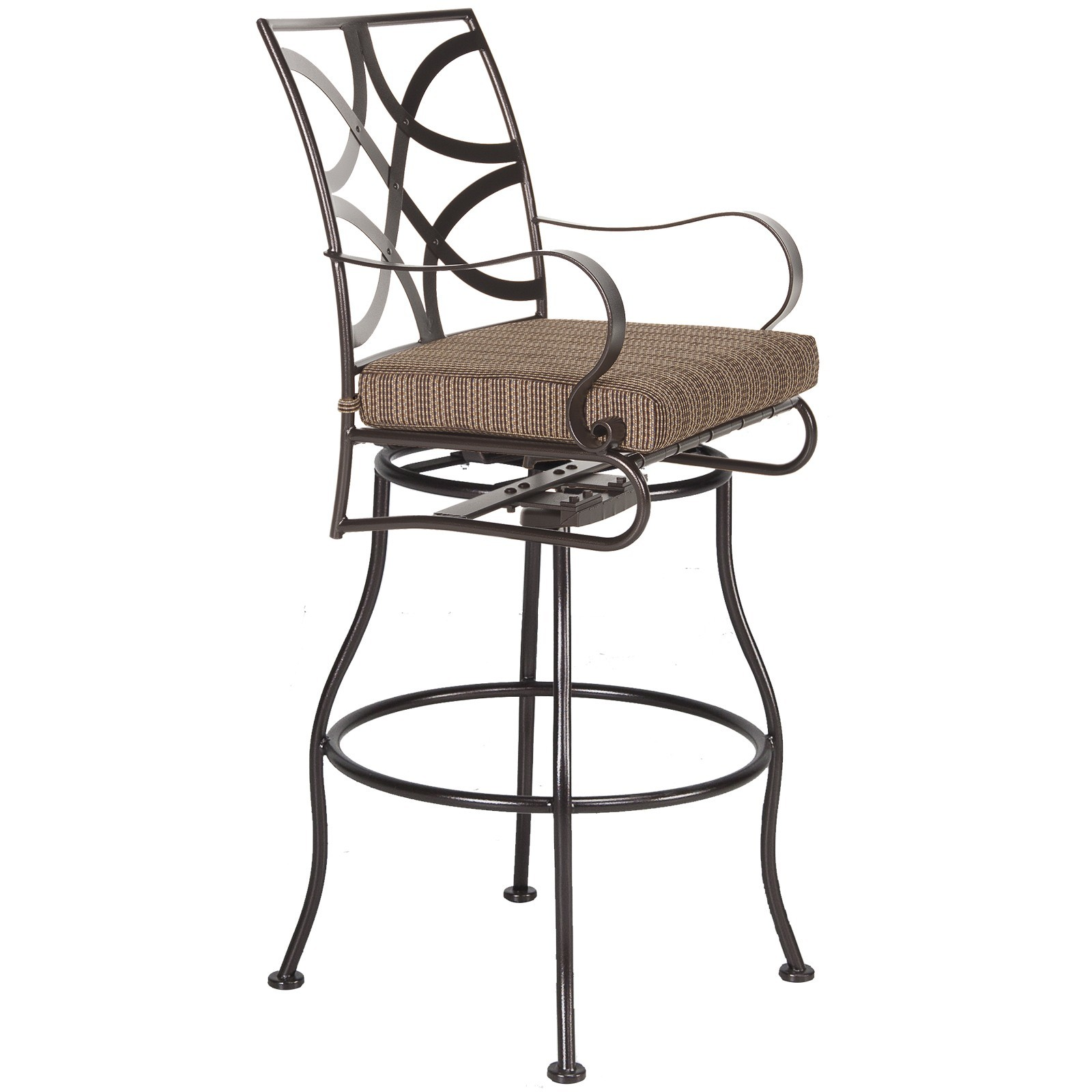 Marquette Swivel Bar Stool With Arms