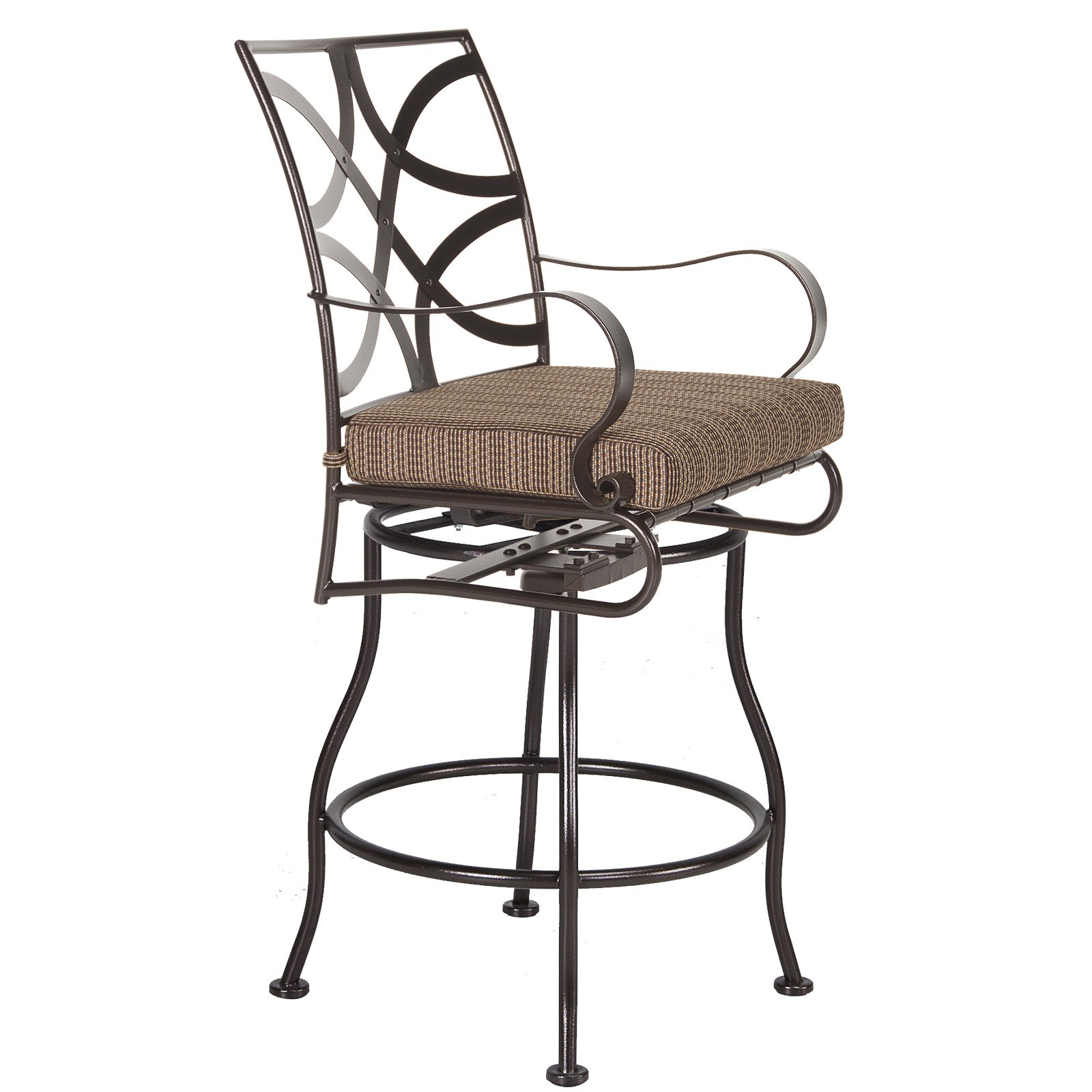 Marquette Swivel Counter Stool With Arms