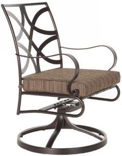 Marquette Swivel Rocker Dining Arm Chair