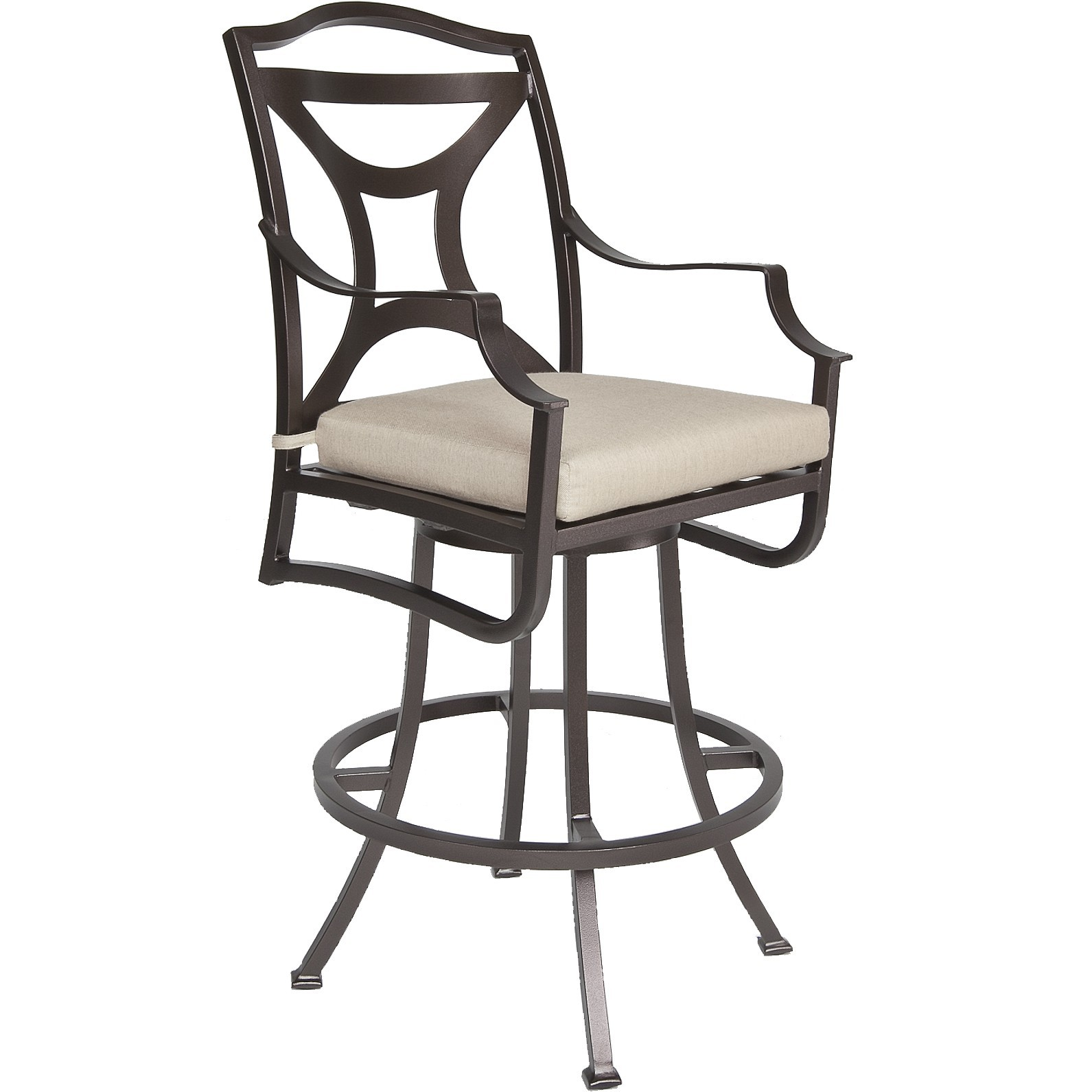 Madison Swivel Bar Stool With Arms