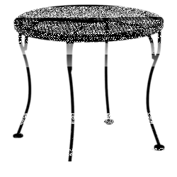 """Micro Mesh Side Table 24"""" Round"""