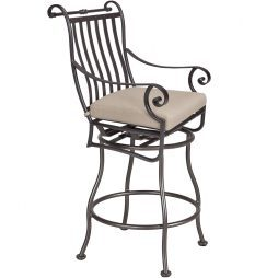 St. Charles Swivel Counter Stool With Arms