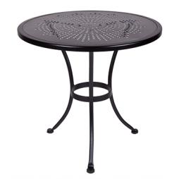 "Stamped Metal 30"" Round Stamped Metal Dining Table"