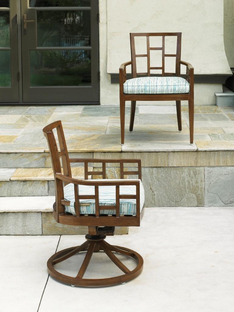 Ocean Club Resort Swivel Rocker Dining Chair Hauser S Patio