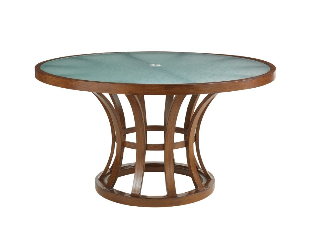 54 54 Glass Table Top: Ocean Club Pacifica 54 Inch Dining Table With Etched Glass