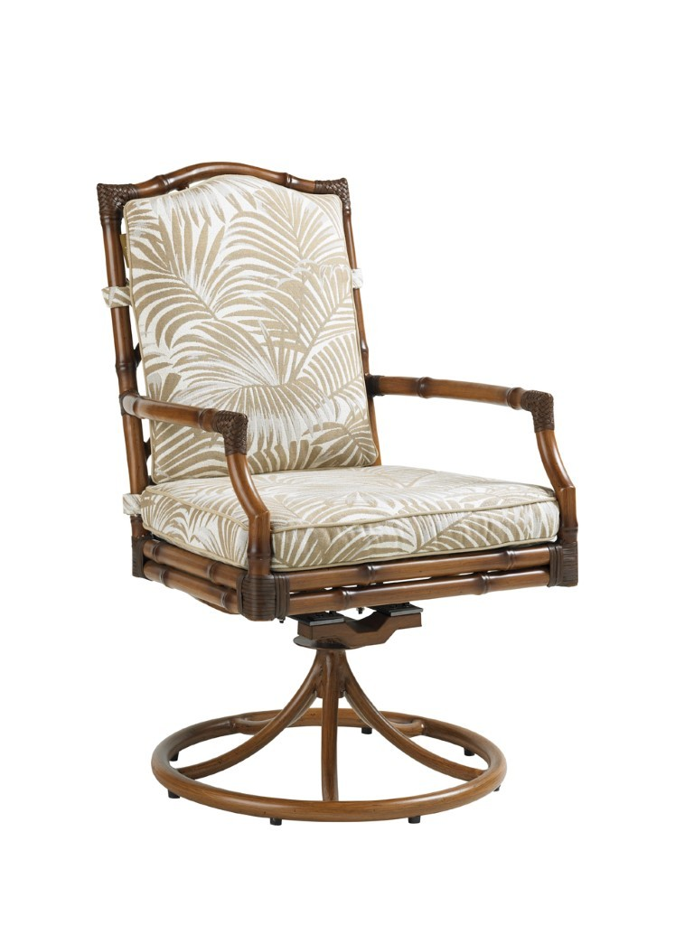 Island Estate Veranda Swivel Rocker Dining Chair Hauser