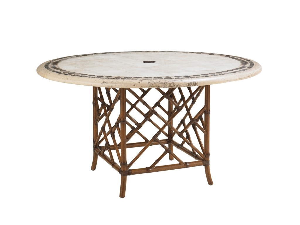 island estate veranda 54 inch round dining table hauser 39 s patio. Black Bedroom Furniture Sets. Home Design Ideas