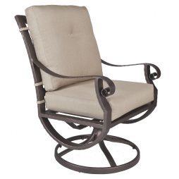 Luna Club Swivel Rocker Dining Arm Chair