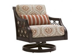 Royal Kahala Black Sands Swivel Rocker Dining Chair
