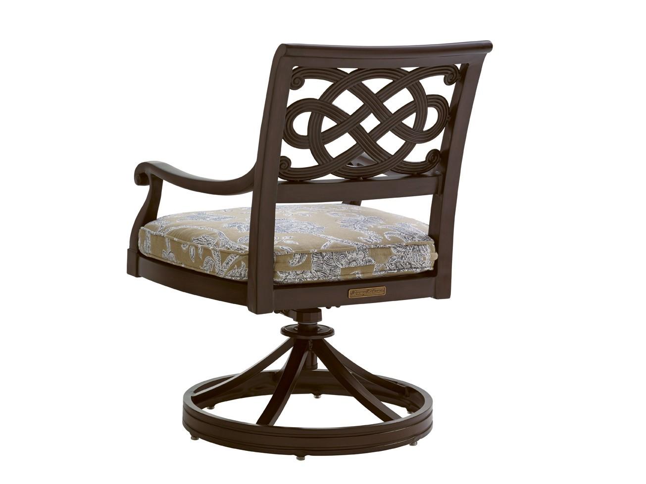 Royal Kahala Black Sands Swivel Rocker Dining Chair