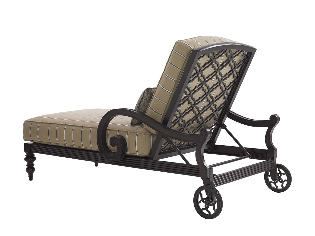 Royal kahala black sands chaise lounge hauser 39 s patio for Black metal chaise lounge outdoor