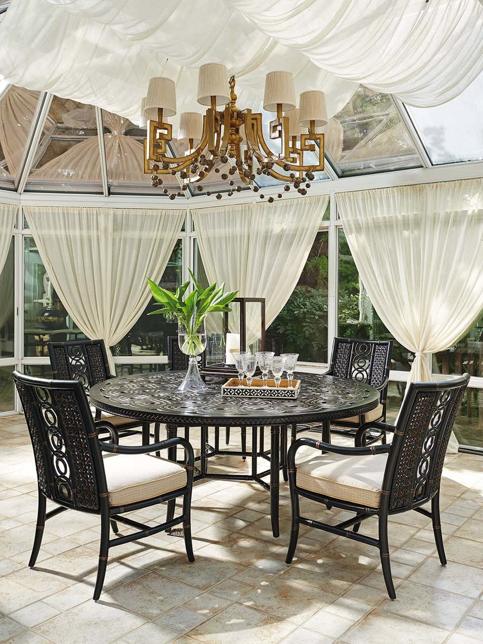 Marimba Round Dining Table Hauser 39 S Patio