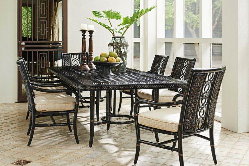 Marimba rectangular dining set