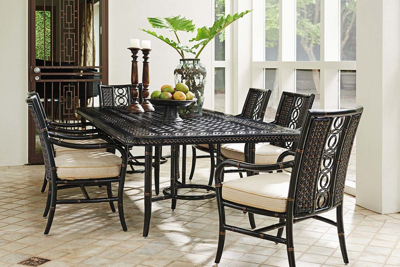 Marimba rectangular dining set
