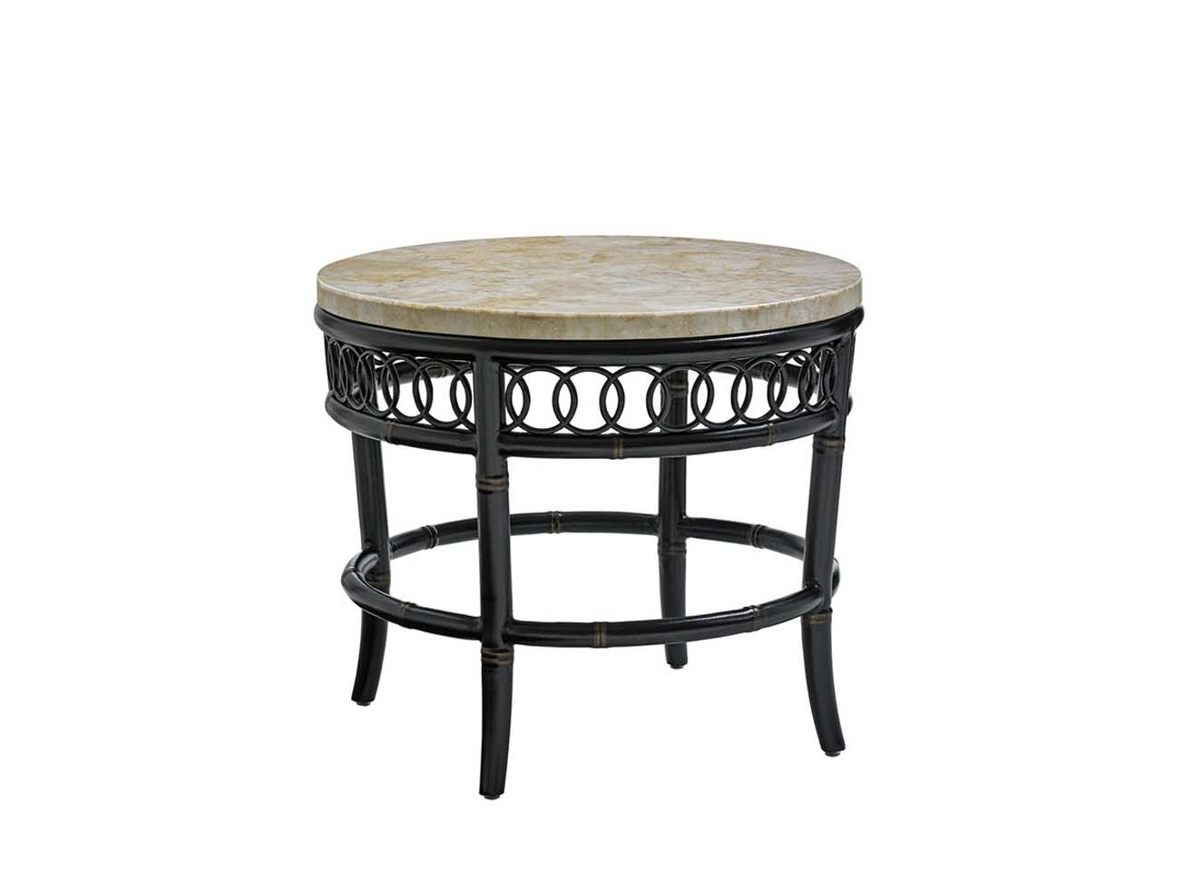 Marimba Round End Table Base Hauser 39 S Patio