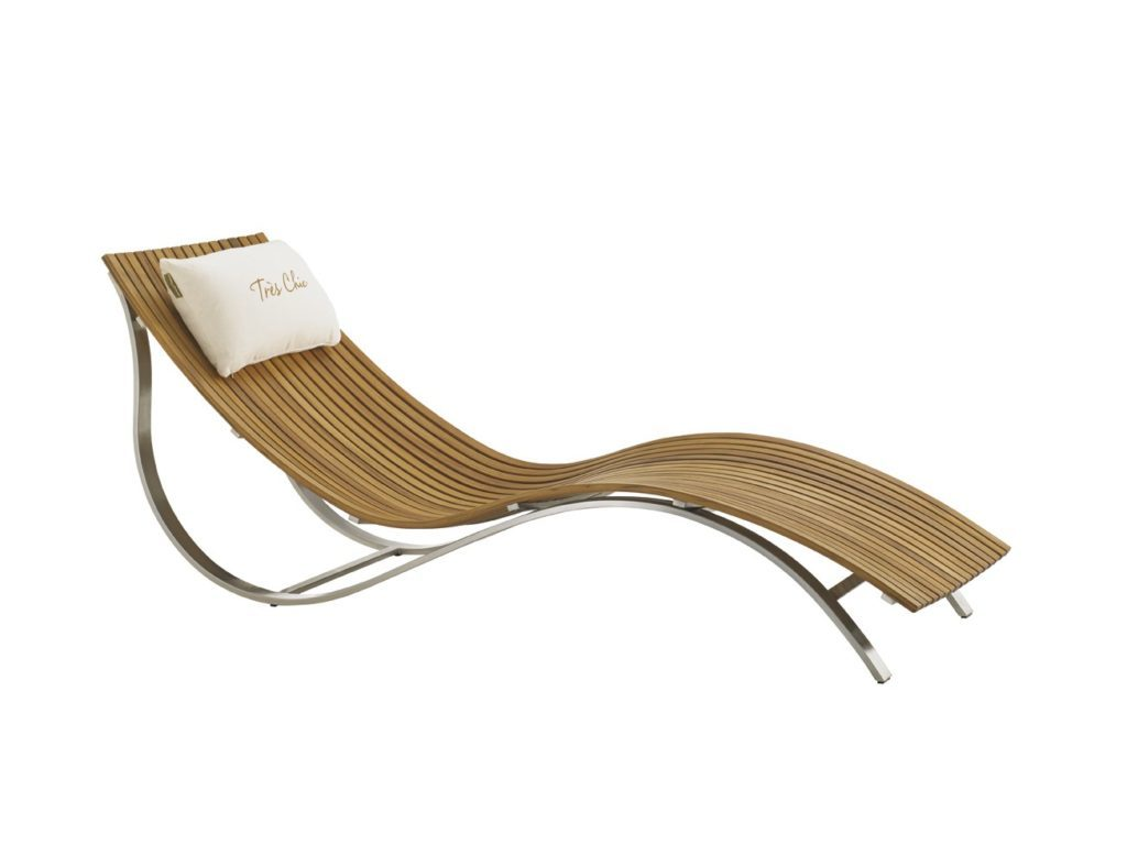 lounge chair with pillow