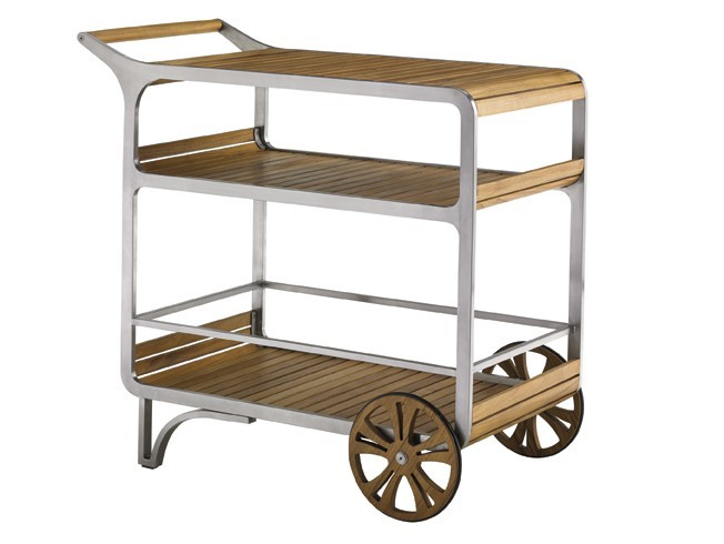 Tres chic mobile bar cart hauser 39 s patio for Mobili bar cart