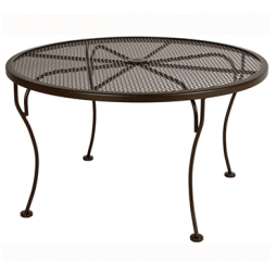 "Micro Mesh Coffee Table With 2"" Umbrella Hole- 36"" Round"