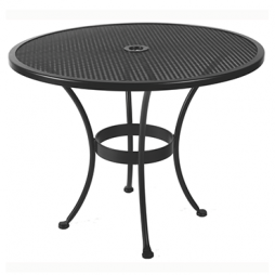 "Standard Mesh Mesh Dining Table With 2"" Umbrella Hole 36"" Round"