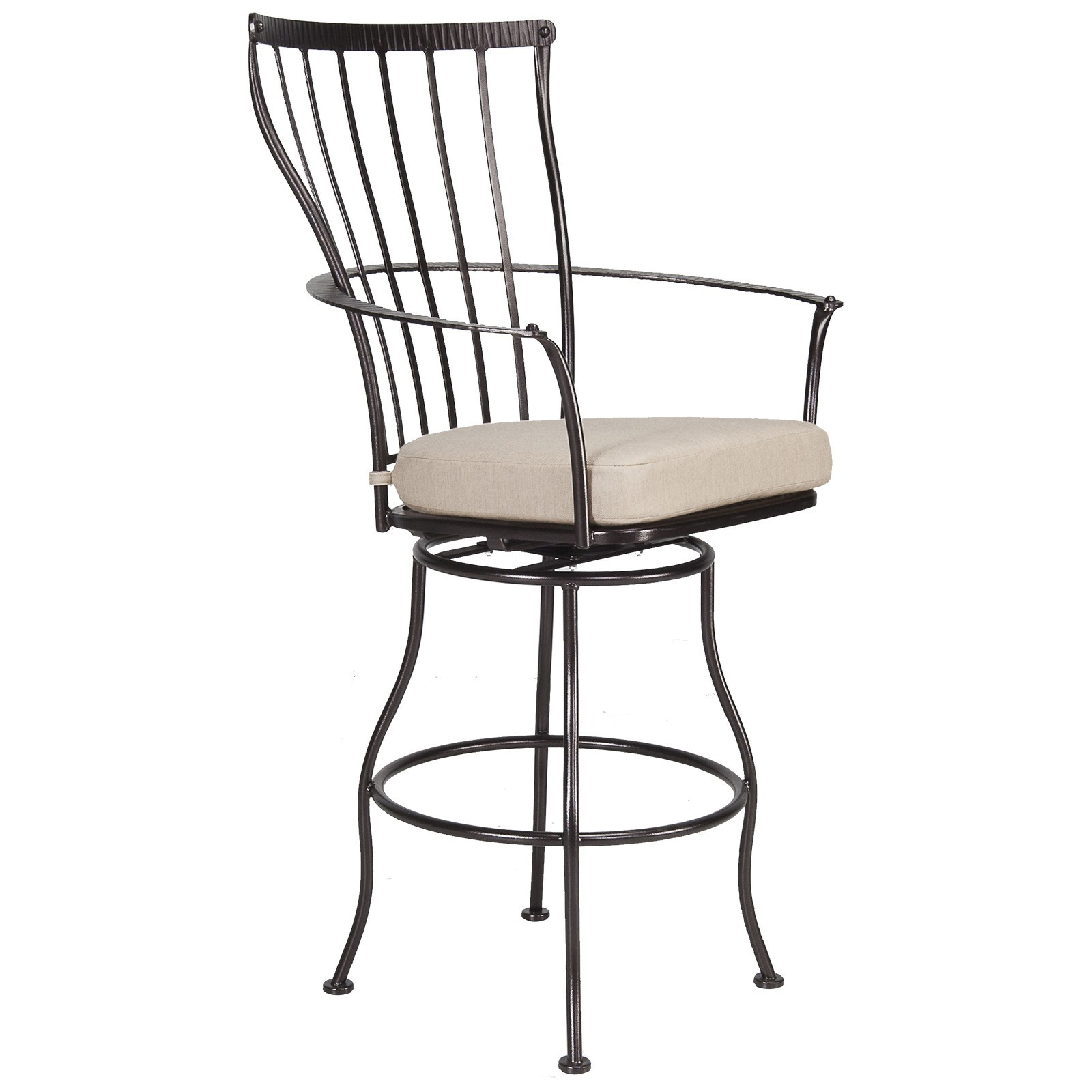 Monterra Swivel Bar Stool With Arms Hauser S Patio