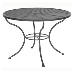 """Micro Mesh Dining Table With 2"""" Umbrella Hole- 42"""" Round"""