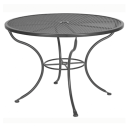 "Micro Mesh Dining Table With 2"" Umbrella Hole- 42"" Round"