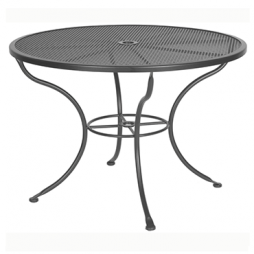 "Standard Mesh Mesh Dining Table With 2"" Umbrella Hole 42"" Round"