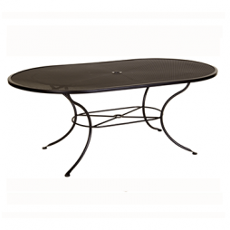 "Micro Mesh Dining Table With 2"" Umbrella Hole- 72"" w x 42"" d x 28"" h"