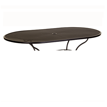 """Micro Mesh Dining Table With 2"""" Umbrella Hole- 72"""" w x 42"""" d x 28"""" h"""