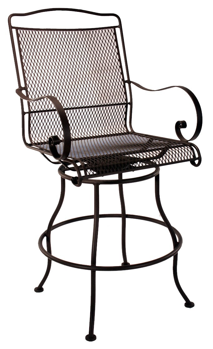 Avalon Swivel Counter Stool With Arms Hauser S Patio