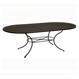 """Micro Mesh Dining Table With 2"""" Umbrella Hole- 84"""" w x 44"""" d x 28"""" h"""