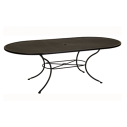 """Standard Mesh Dining Table With 2"""" Umbrella Hole- 84"""" w x 44"""" d x 28"""" h"""