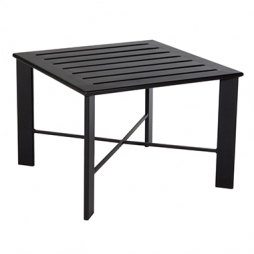 "Gios Aluminum Slatted Top Side Table 28"" Square"