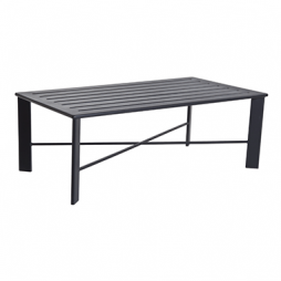 "Gios Aluminum Slatted Top Coffee Table 50""w x 28""d"