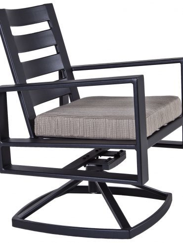 Gios Swivel Rocker Dining Arm Chair