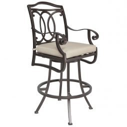 Palisades Swivel Bar Stool With Arms