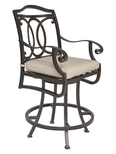 Palisades Swivel Counter Stool With Arms