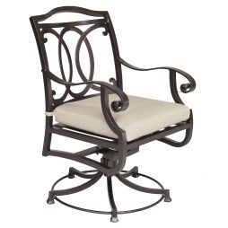 Palisades Swivel Rocker Dining Arm Chair