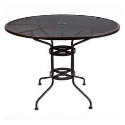 "Standard Mesh Bar Table With 2"" Umbrella Hole- 48"" Round"