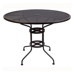 "Standard Mesh Counter Table With 2"" Umbrella Hole- 48"" Round"