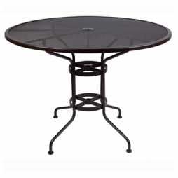 "Micro Mesh Bar Table With 2"" Umbrella Hole- 48"" Round"