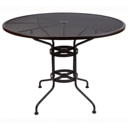 """Micro Mesh Counter Table With 2"""" Umbrella Hole- 48"""" Round"""