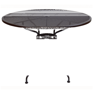 "Micro Mesh Counter Table With 2"" Umbrella Hole- 48"" Round"
