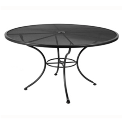 """Micro Mesh Dining Table With 2"""" Umbrella Hole- 48"""" Round"""