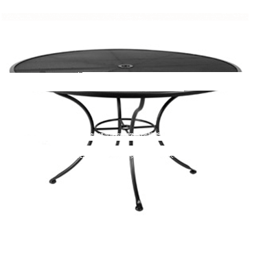 "Micro Mesh Dining Table With 2"" Umbrella Hole- 48"" Round"