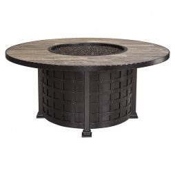 "Classico  54"" Round Chat Height Iron Fire Pit"