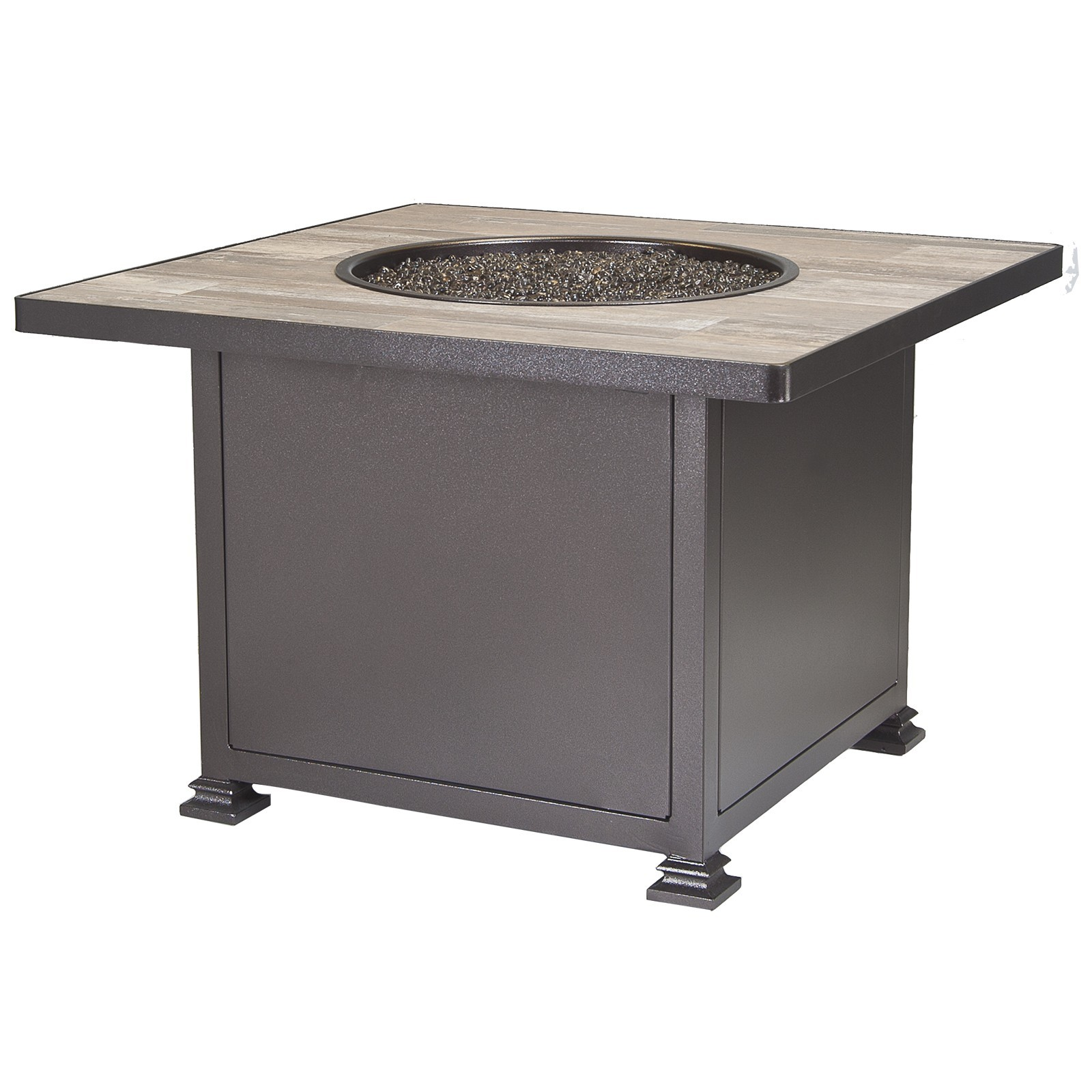 "Fire Pits 36"" Square Chat Height Fire Pit"