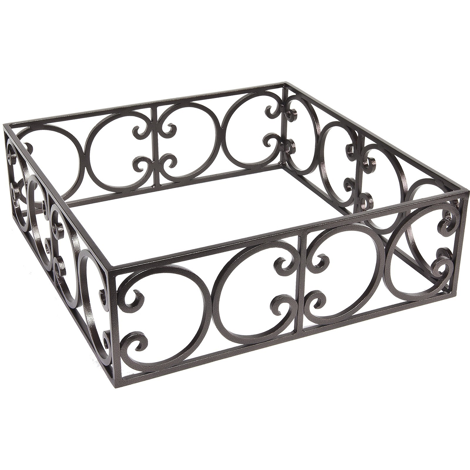 "Fire Pit Accessories Ornate Square Round Metal Fire Pit Guard fits 20"" Square Burner"