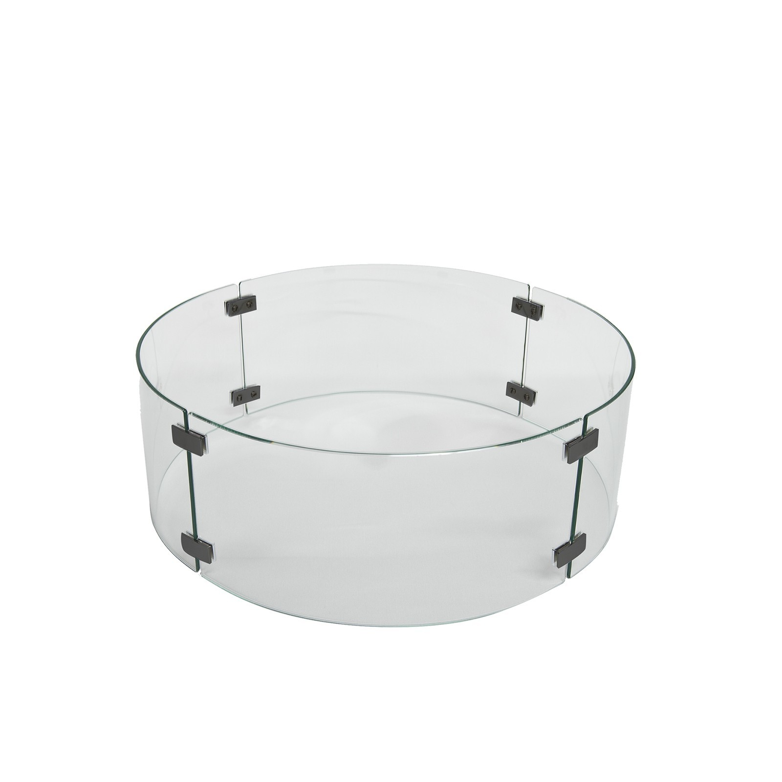 Fire Pit Accessories Small Round Glass Fire Guard Fits 20
